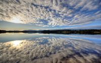 Clouds reflecting in the water wallpaper 2560x1600 jpg