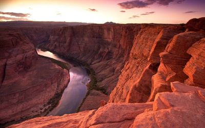 Colorado river through the Grand Canyon wallpaper