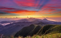 Colorful mountain sunrise wallpaper 1920x1080 jpg