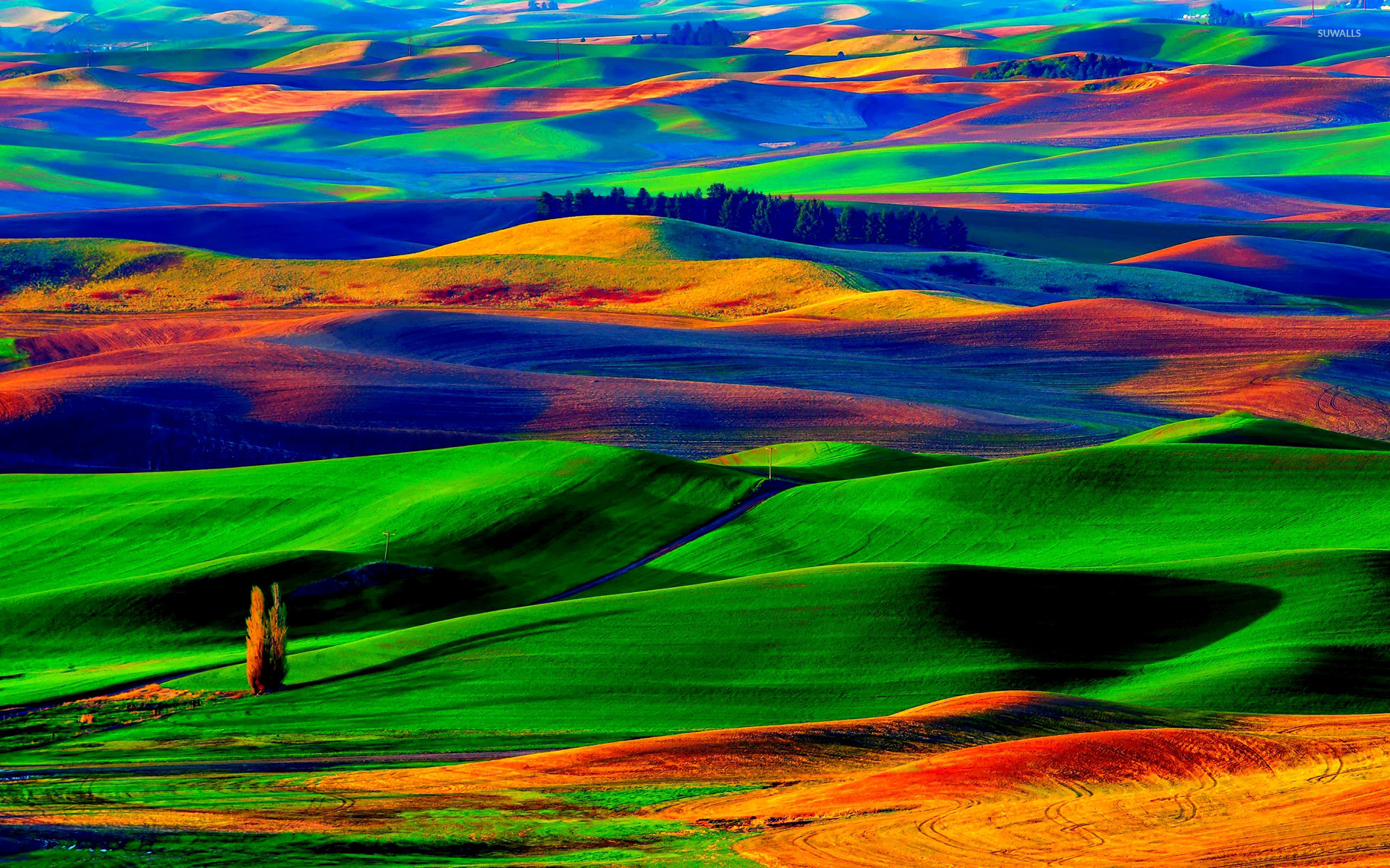 colorfull hills wallpaper nature wallpapers 18676