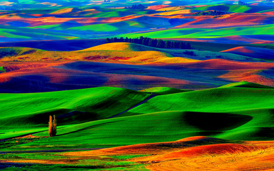 Colorfull hills wallpaper