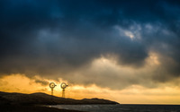 Dark clouds at sunset wallpaper 3840x2160 jpg