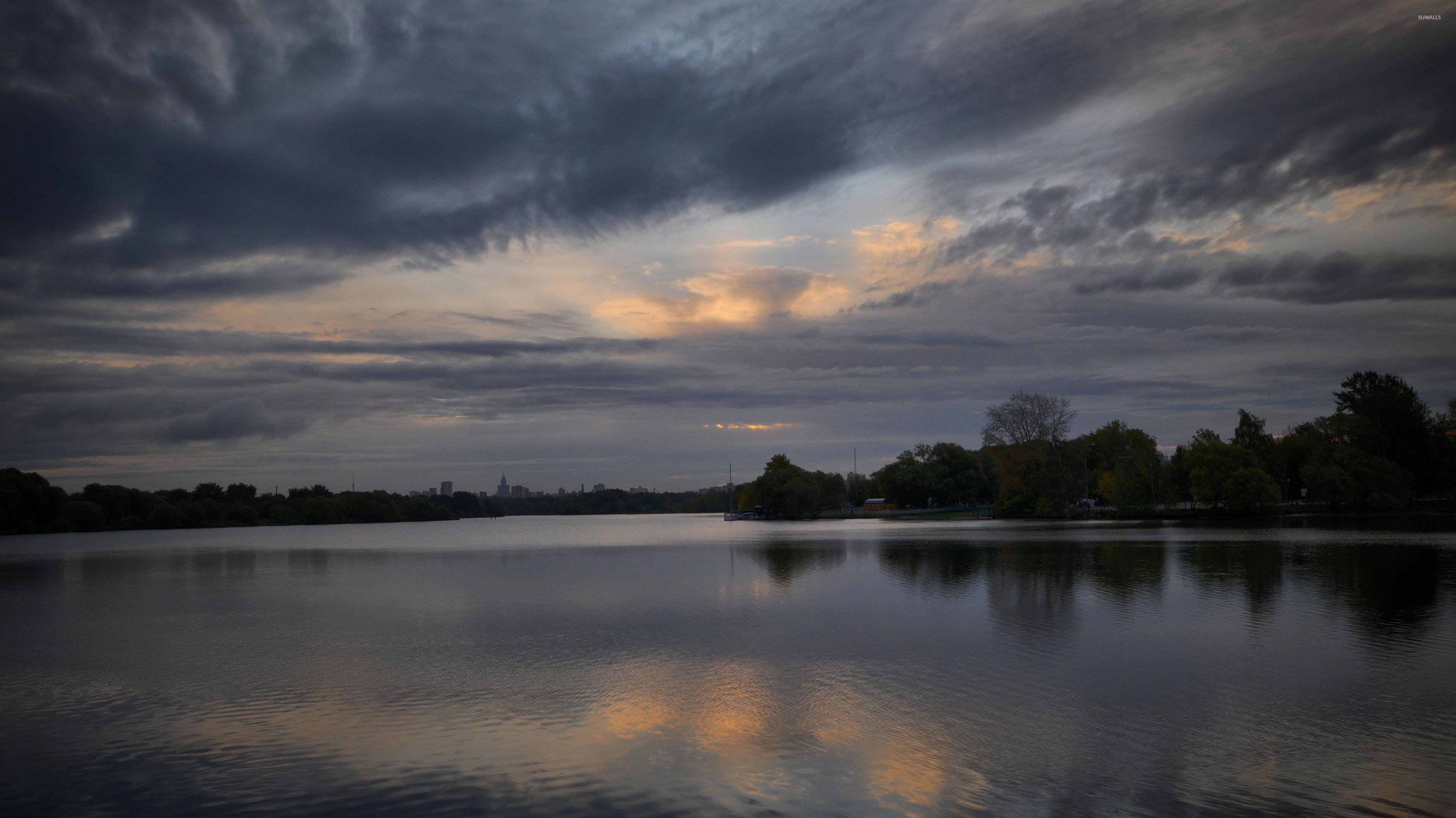 Dark Sky Above The Lake 2 Wallpaper Nature Wallpapers 38216