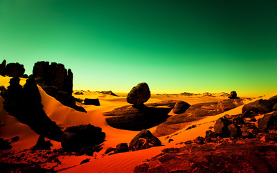 Desert evening wallpaper