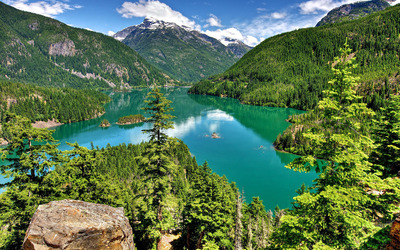 Diablo Lake wallpaper