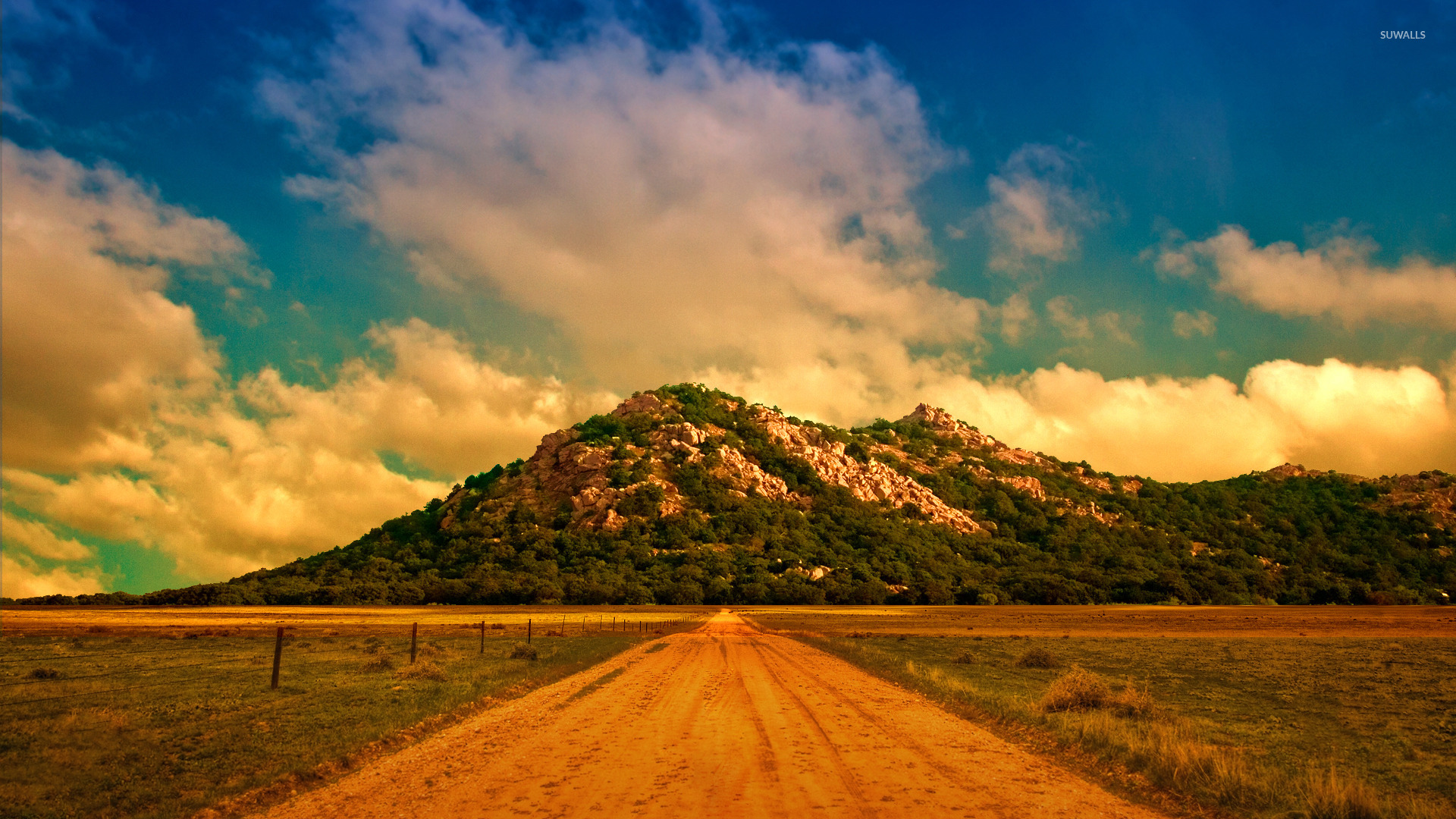 Dirt road to the mountain wallpaper  Nature wallpapers  22850