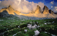 Dolomite Mountains in  Italy wallpaper 1920x1200 jpg