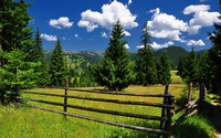 Fence in the mountains wallpaper 2880x1800 jpg