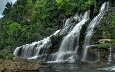 Foamy waterfall [2] wallpaper