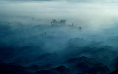 Foggy hills wallpaper