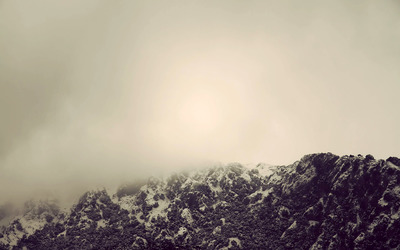Foggy Mountaintop wallpaper