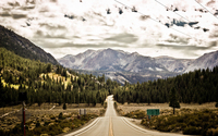 Forest road to June Lake wallpaper 1920x1200 jpg