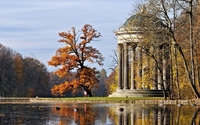 Gazebo in an autumn park wallpaper 1920x1080 jpg