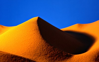 Golden sand dune wallpaper