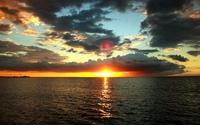 Golden sunset under the dark clouds wallpaper 1920x1200 jpg
