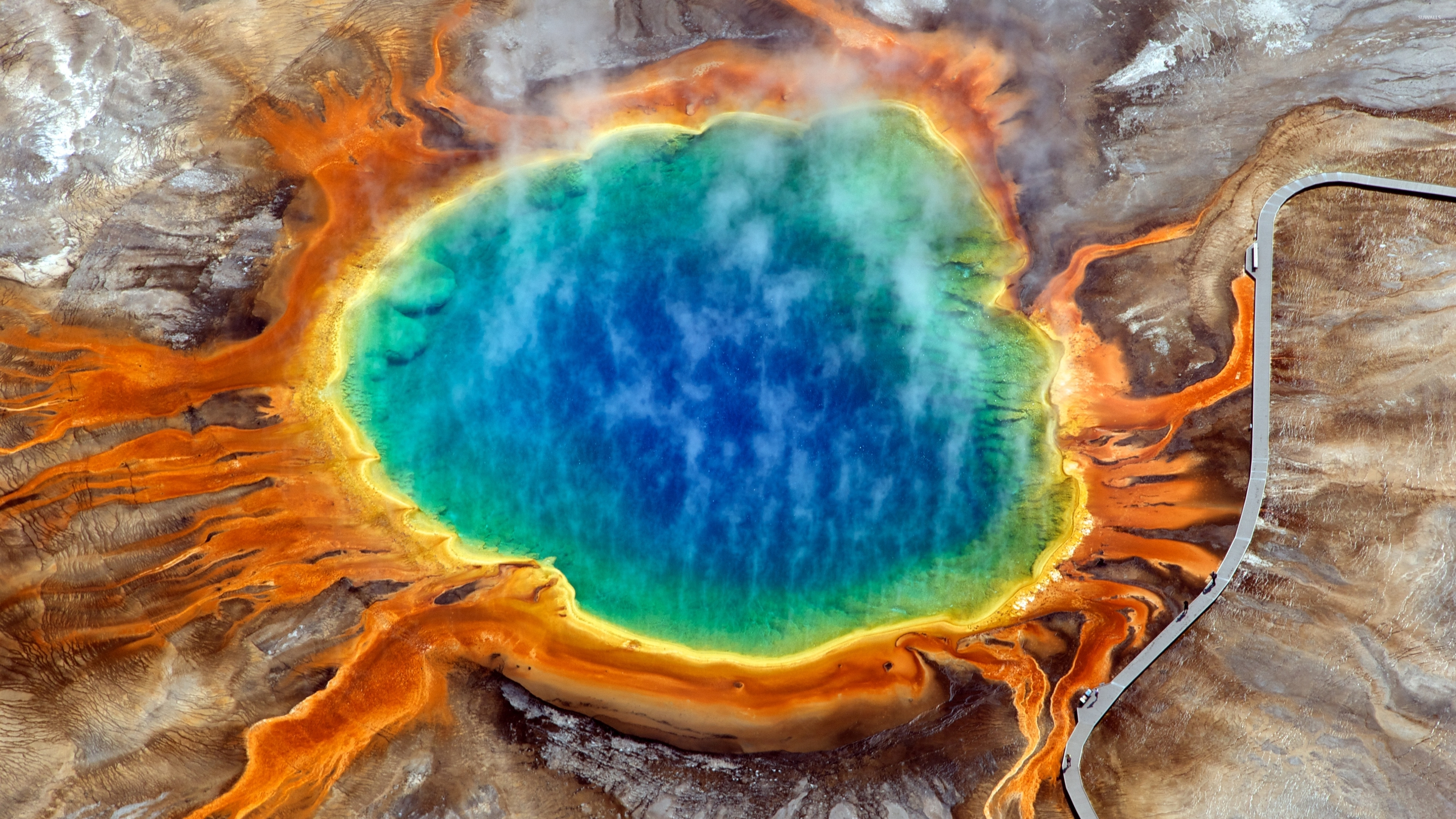Image result for Grand Prismatic Spring, Yellowstone National Park, USA in 4K (Ultra HD)