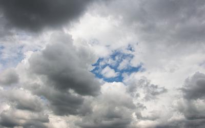Gray clouds Wallpaper
