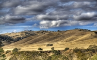 Gray clouds over the hills wallpaper 1920x1200 jpg