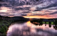 Great sunset at the river wallpaper 2880x1800 jpg