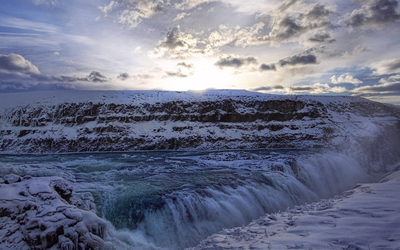 Gullfoss Waterfall wallpaper