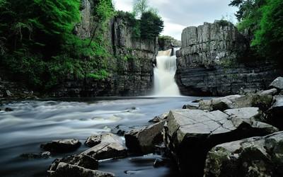 High Force waterfall, England wallpaper