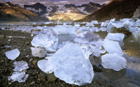Ice boulders near the glacier wallpaper 1920x1200 jpg