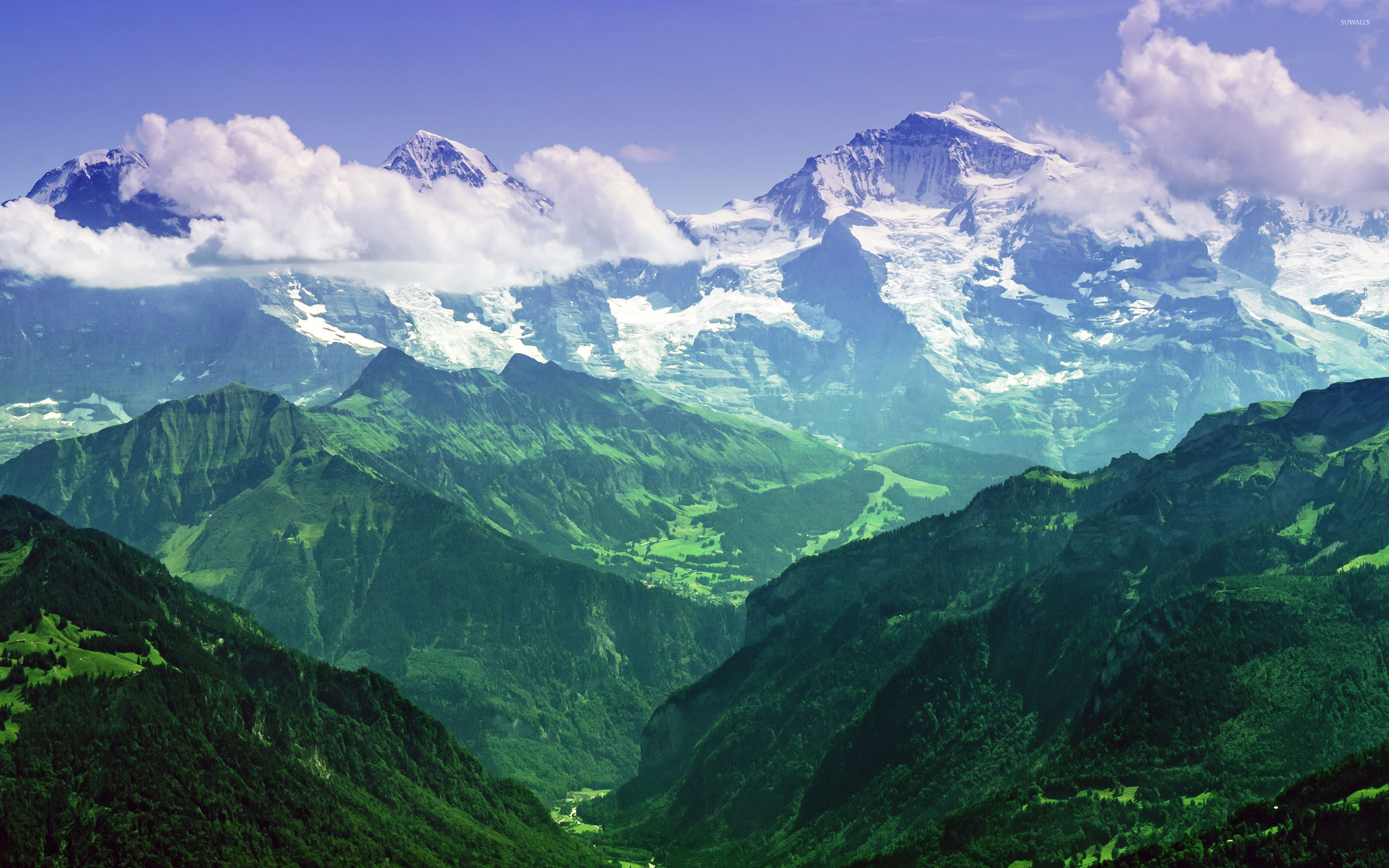 jungfrau, bernese alps, switzerland wallpaper - nature wallpapers