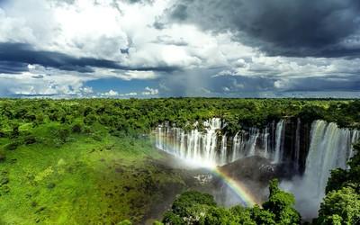 Kalandula Falls, Angola wallpaper