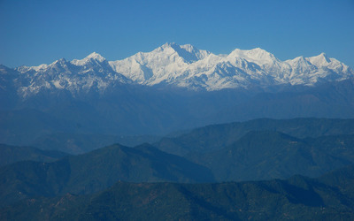 Kangchenjunga mountains wallpaper