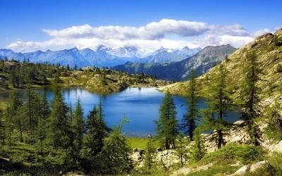 Lago Bianco, Switzerland wallpaper