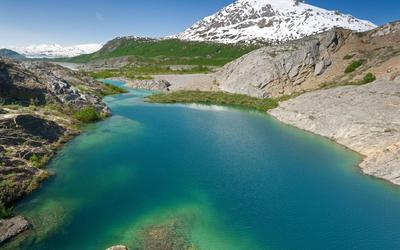 Lake Along the Alsek River wallpaper
