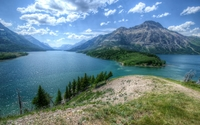 Lake between the mountains wallpaper 2560x1600 jpg