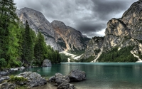 Lake Braies wallpaper 1920x1200 jpg