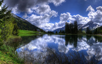 Lake in the Alps wallpaper 2560x1440 jpg