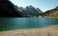 Lake in the rocky mountains wallpaper 1920x1200 jpg