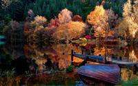 Lake in the woods wallpaper 1920x1080 jpg