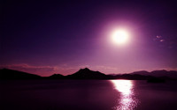 Lake on a purple night wallpaper 1920x1200 jpg