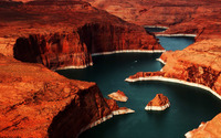 Lake Powell reservoir on the Colorado River wallpaper 1920x1080 jpg