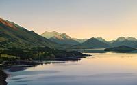 Lakeside mountains wallpaper 1920x1080 jpg