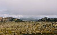 Lava field and volcano wallpaper 2880x1800 jpg