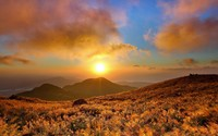 Marvelous sunset above the mountain wallpaper 1920x1200 jpg