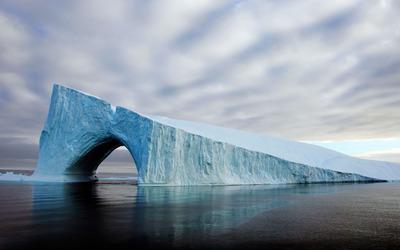 Melting iceberg wallpaper