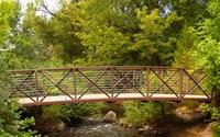 Metallic bridge over the river wallpaper 2560x1600 jpg