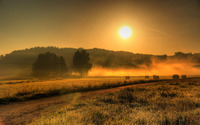 Misty sunrise wallpaper 2880x1800 jpg
