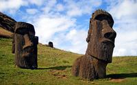 Moai Statues wallpaper 2560x1600 jpg