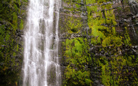 Mossy rocks waterfall wallpaper 3840x2160 jpg
