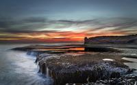 Mossy rocky shore wallpaper 1920x1200 jpg