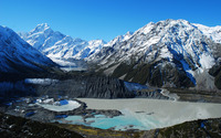 Mount Cook, New Zealand wallpaper 2880x1800 jpg