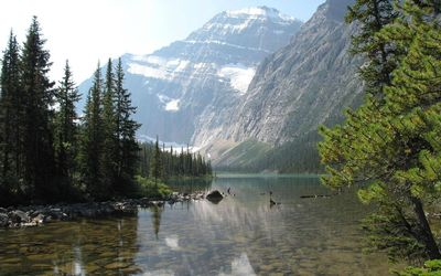 Mount Edith Cavell in Canada wallpaper
