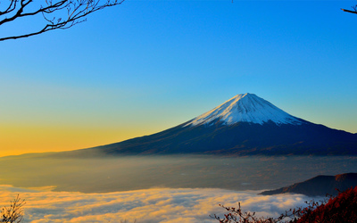 Mount Fuji at sunset Wallpaper